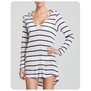 Splendid Blue White Stripe Untamed Hooded Top